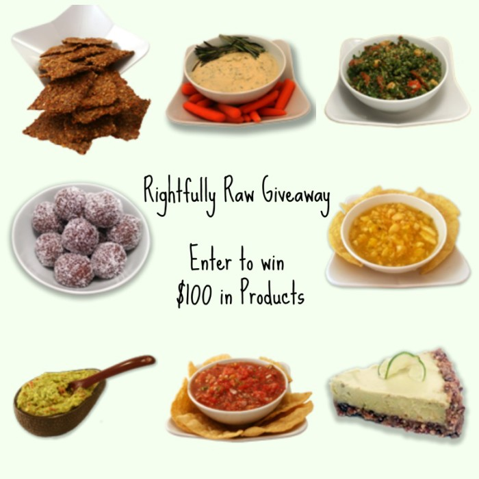 #giveaway: Rightfully Raw