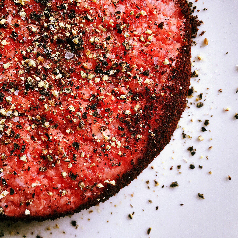 Starbucks Coffee Rubbed Hamburgers © www.roastedbeanz.com #rbz