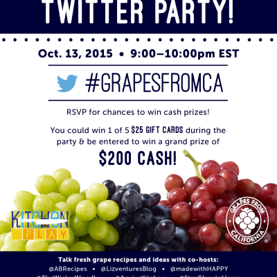 I Pick You…To Talk Grape Recipes & Prizes! | Twitter Party