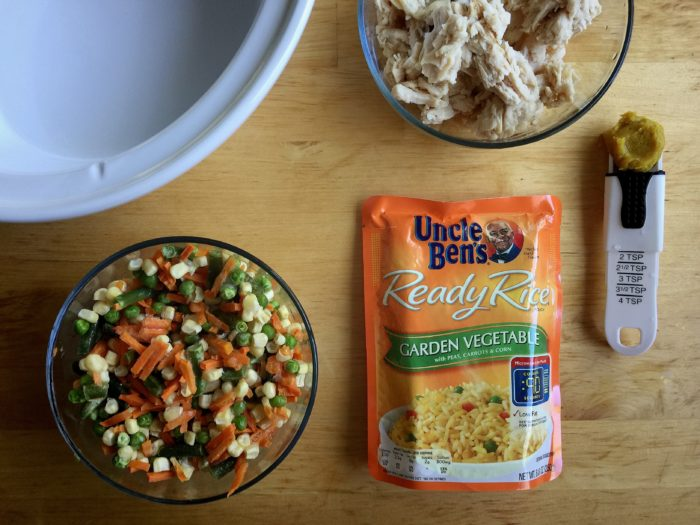 Garden Vegetable And Pulled Chicken Soup Recipe On International Cook With Your Kids Day © www.roastedbeanz.com #BensBeginners #UncleBensPromo [AD] #CollectiveBias #shop