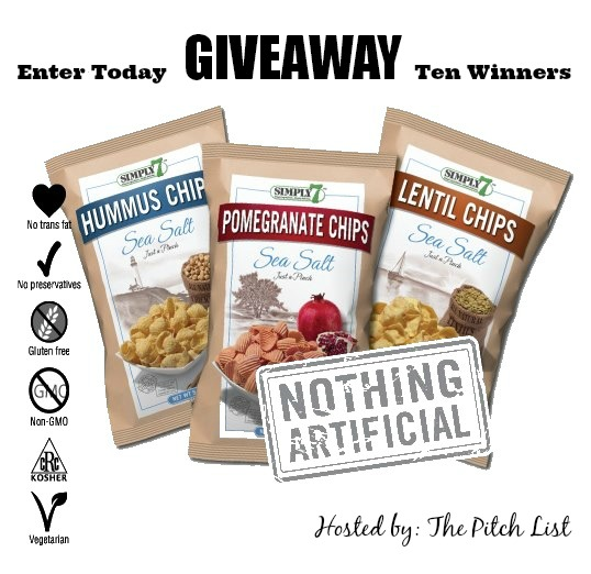 Roasted Beanz: Simply 7 Snack Chip Giveaway